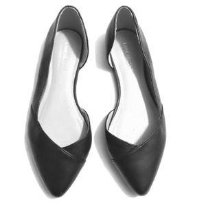 Lane Bryant Black leather flats 🥿
